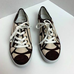 Coach Dalia Sneakers Brown NWOB 9.5M Lace Up Shoes